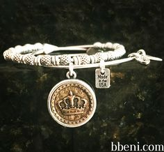 God is King Two Tone Charm Bangle &  Grace Beaded Bangle