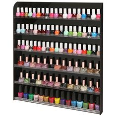 NAIL VARNISH ACRYLIC DISPLAY STAND NAIL POLISH BOTTLE SHAPE WALL MOUNTED