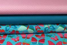 Stoffpakete - 300 Stoffpaket Jersey  Schmetterlinge Türkis 1,25m - ein Designerstück von my-kati bei DaWanda