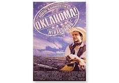 "OKLAHOMA  Broadway Poster - Heavy show card stock. 14"" x 22""."