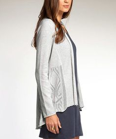 Look what I found on #zulily! Silver Heritage Organic Open Cardigan #zulilyfinds