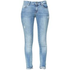 Zara Ripped Jeans ($26) ❤ liked on Polyvore featuring jeans, pants, bottoms, calças, blue, torn jeans, ripped blue jeans, distressing jeans, destructed jeans and zara jeans