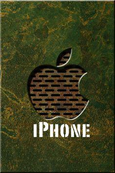 錆びた鉄風のアップルロゴ