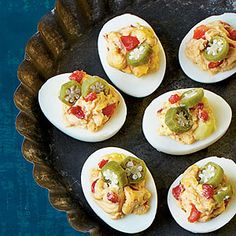 Smoky Pimiento Cheese Deviled Eggs, easter is coming gonna try this for a twist on deviled eggs!