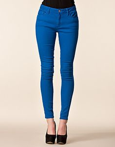 Pauline Twill Pants in Royal Blue - Jeane Blush - New Fashioned