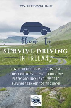 How to Survive Driving in Ireland - Hint: It Involves Prayer and Irish Luck Tiny cars, winding roads, blind curves, a left-handed stick shift. Read on for our best tips on how to survive driving in Ireland. Scotland Travel, Ireland Travel, Scotland Trip, Luck Of The Irish, Irish Luck, Sightseeing London, Driving In Ireland, Ireland Vacation, Emerald Isle