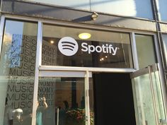 This Spotify window graphic let visitors know that they can find a playlist for the exhibit they were visiting. #Spotify #WindowGraphics #MrSign