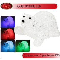 Ours polaire de Noel lumineux pas cher à LED, decoration Noel pas cher.  Badaboum 5d6e44f5f7de