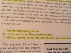 Decide, Plan, Commit, continual action step by step until its your reality