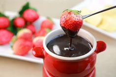 Milk chocolate and heavy cream come together to create this show-stopping Chocolate Fondue dessert recipe, created by @addapinch. http://thestir.cafemom.com/food_party/185025/8_extraspecial_homemade_mothers_day