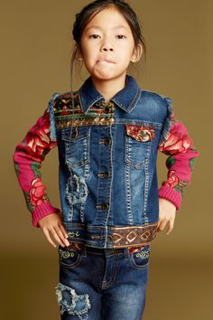 Our miniture Exotic Jeans jacket: it's smaller in size, but its style is unrivalled