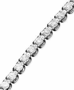 Diamond Tennis Bracelet in White Gold ct. 2 Carat, Round Cut Diamond, Diamond Are A Girls Best Friend, White Gold Diamonds, Bracelet Set, Jewelry Watches, Bangles, Jewels, Elegant