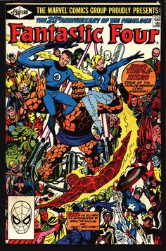 Origin FANTASTIC FOUR 4 #236 John Byrne, Stan Lee, Jack Kirby, Puppet Master, Dr.Doom, The Thing, Human Torch, Mr Fantastic, Invisible Girl,