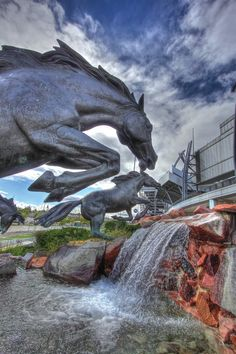 Who's ready for some Broncos football? Go Broncos! {Photo courtesy of Greg Thow Denver Digital Photography} My husband's aunt bought him the original scale artists model of the fountain, and it is pretty! Boise State Broncos, Denver Broncos Football, Go Broncos, Broncos Fans, Best Football Team, Broncos Logo, Cincinnati Bengals, Indianapolis Colts, Colorado Homes