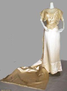 Silk & Lace Wedding Ensemble, April 4, 1912, Augusta Auctions, November 13, 2013 - NYC, Lot 314