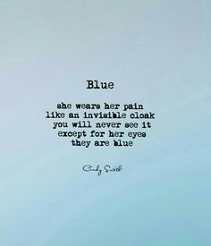 Blue ~ Cindy Smith