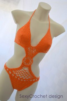 Moda arancione monokini costume da bagno caldo, sexy sweemwear, un pezzo bikini, monokini Moda spiaggia, bikini spiaggia luna di miele, hot monokini di SexyCrochetByOlga su Etsy https://www.etsy.com/it/listing/153283771/moda-arancione-monokini-costume-da-bagno