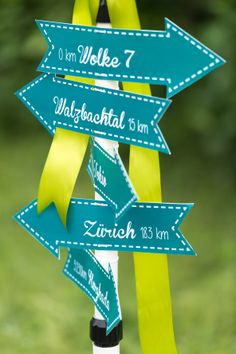 Different signs to different cities. Just lovely decoration :-)