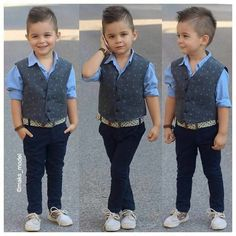 37 Ideas Children Outfits Boy Hair Cut For 2019 - Cute Boy Outfits, Outfits Niños, Little Boy Outfits, Little Boy Fashion, Kids Fashion Boy, Kids Outfits Girls, Toddler Fashion, Kids Ethnic Wear, Toddler Boy Haircuts