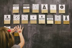 Pick a DIY advent calendar idea from these 63 tutorials. Scandinavian, modern, or colorful: make a gorgeous calendar to put up for the holidays. Diy Advent Calendar, Advent Calendars, Days Till Xmas, Elf On The Shelf, Diy Wall Art, Wall Decor, Diy Craft Projects, Craft Ideas, Christmas Holidays