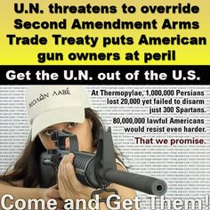 While President Obama lost a round this week on his gun-control agenda in Congress, he's making up for lost ground by pursuing a broader gun grab at the United Nations.     Read more: http://www.washingtontimes.com/news/2013/mar/21/miller-un-encroaching-second-amendment/#ixzz2OEEJhWUo