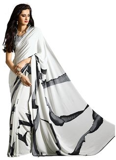 Nice Off White Casual Saree