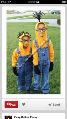 Easy!  Hoodies and overalls and you have yourself a couple of minions.  #running #costume boorunrun.org