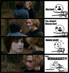 Photo of Alice&Jasper Funny for fans of Twilight Series 28657344 Alice Twilight, Jasper Twilight, Twilight Film, Twilight Jokes, Twilight Saga Quotes, Twilight Edward, Robert Pattinson Twilight, Biss Zum Abendrot, Alice And Jasper
