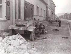 Dead waffen-ss soldier in Kubelwagen