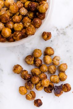 Sweet and salty roasted chickpeas! Yum!