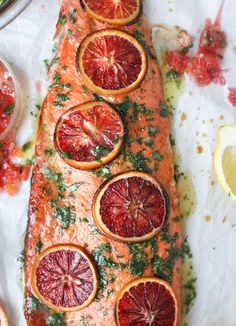 winter citrus butter salmon I http://howsweeteats.com