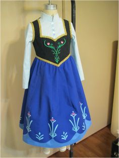 instructions for Anna's dress from Frozen using simplicity patterns