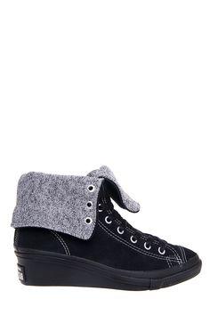 Converse - Chuck Taylor Hi-Ness X-Hi Top Wedge Sneaker - Black at DNA  Footwear 066816d49a3e