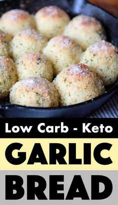 This recipe for Keto garlic bread is the perfect way to start a meal. And luckil… This recipe for Keto garlic bread is the perfect way to start a meal. And luckily for us, each of these low carb rolls has just net carbs. Lowest Carb Bread Recipe, Low Carb Bread, Low Carb Keto, Low Carb Food, Low Carb Meals, Carb Free Bread, Bread Carbs, Low Carb Desserts, Low Carb Recipes