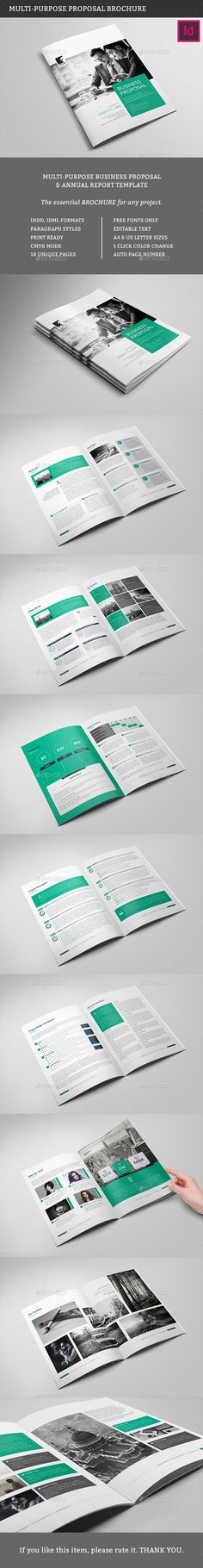 Multipurpose Business Proposal Template InDesign INDD #design Download…