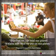 Like supporting local farmers and eating local foods! #foodquotes #eatlocal #supportlocal