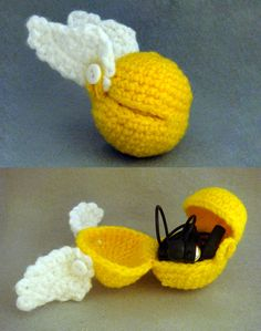 Golden Snitch Headphone Ball by nsdragons - pattern for sale