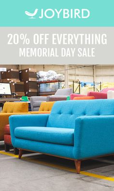 With limitless options including size, fabrics and wood options, each and every piece is one-of-a-kind just the way you designed it. Get premium quality furniture made just for you during our Memorial Day Sale. Start creating the furniture of your dreams, with 20% off SITEWIDE!