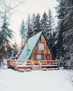 Warm and fuzzy palette vibes. Log Cabin Floor Plans, A Frame House Plans, A Frame Cabin, Tiny House Cabin, Cabin Homes, Farm House, Cozy Cabin, Cozy Cottage, Mountain Cottage