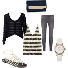 Stripes, created by sarah895 on Polyvore