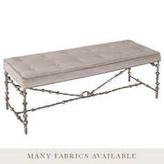 Elegant iron frame bed bench for style: B