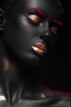 Black skin on Behance