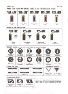 Plate XXI: Amed Elite Guard (<i>Waffen-SS</i>): Insignia of Rank (NCOs)