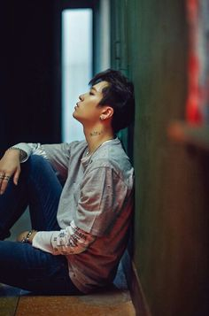 My first impression of Youngjae - GOT7 - those jeans......  this is one of those lusciously male images that when I stare at it for a bit, I feel like I'm slipping into a hot bath after being chilled to the bone...