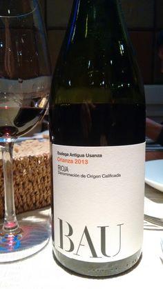 Bau crianza 2013 - DO Ca Rioja - Bodega Antigua Usanza - Vino tinto con crianza envejecido 15 meses en barrica de roble francés y americano - 90% Tempranillo, 5% Garnacha y 5% Graciano - 13.5%