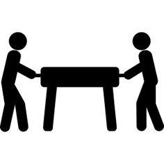 Kickertisch Strichm�nnchen - Zwei Strichm�nnchen spielen am Kickertisch. Tischfu�ball ein beliebtes Kneipenspiel f�r zwischendurch.