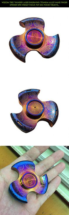 Wisdom tree Thunder Laser Engraving Titanium Alloy Hand Finger Spinner Spin Widget Focus Toy EDC Pocket Relieve Stress Anxiety Boredom Desktoy Gift for ADHD Children Adults #spinner #fpv #tech #products #camera #gadgets #drone #titanium #parts #tritium #plans #shopping #kit #racing #technology