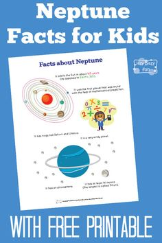 Fun Neptune Facts for Kids - Itsy Bitsy Fun Planets Activities, Solar System Activities, Solar System Projects, Space Activities, Kids Learning Activities, Science Activities, Learning Log, Preschool Ideas, Preschool Crafts