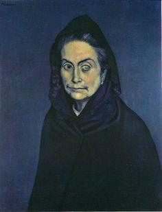 """expressionism-art: """" Celestina, Pablo Picasso Size: cm Medium: oil on canvas"""" Pablo Picasso Artwork, Art Picasso, Picasso Blue, Picasso Paintings, Henri Rousseau, Henri Matisse, Portraits Cubistes, Cubist Portraits, Portrait Art"""