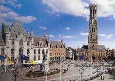 PK1264. Brugge. Belgien. Markt.